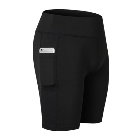 Quick Dry Shorts (Women Sports Quick Dry Compression Shorts Stretch Runing Yoga Pants Pocket )
