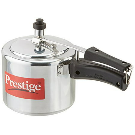 Prestige PRNPC3 Nakshatra Plus 3-Liter Flat Base Aluminum Pressure Cooker for Gas and Induction Stove, Small, Silver