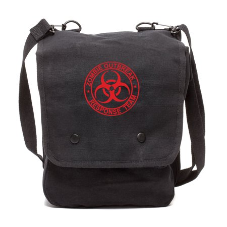 Zombie Outbreak Response Team Canvas Crossbody Travel Map Bag Case](Mlp Bags)