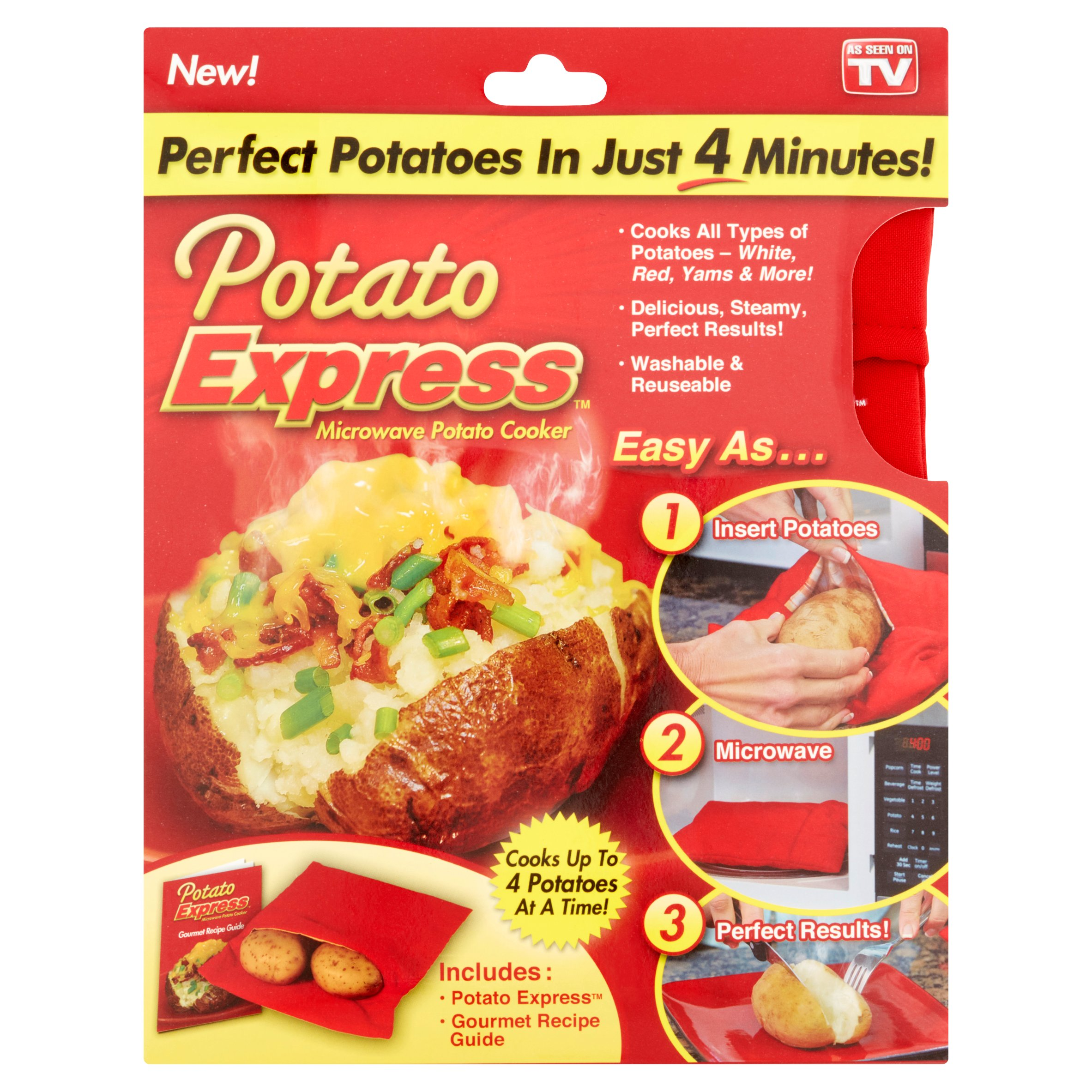 as seen on tv, potato express microwave potato cooker - walmart