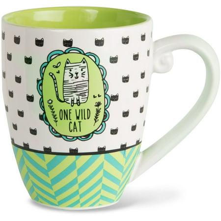 Pavilion - One Wild Cat High Quality Ceramic Extra Large Coffee Mug Tea Cup 20 oz ()