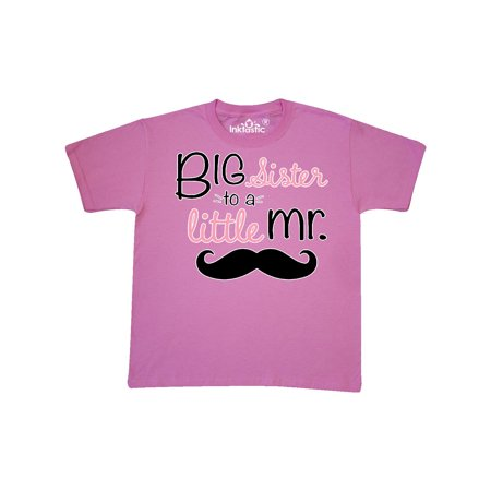 big sister to a little mr. Youth T-Shirt (Going To Be A Big Sister Dog Shirt)