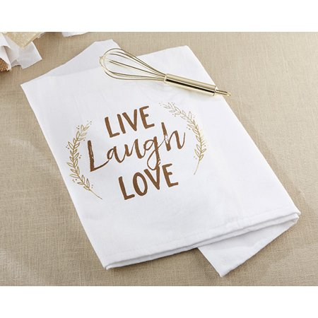 - Live, Laugh, Love Whisk and Tea Towel