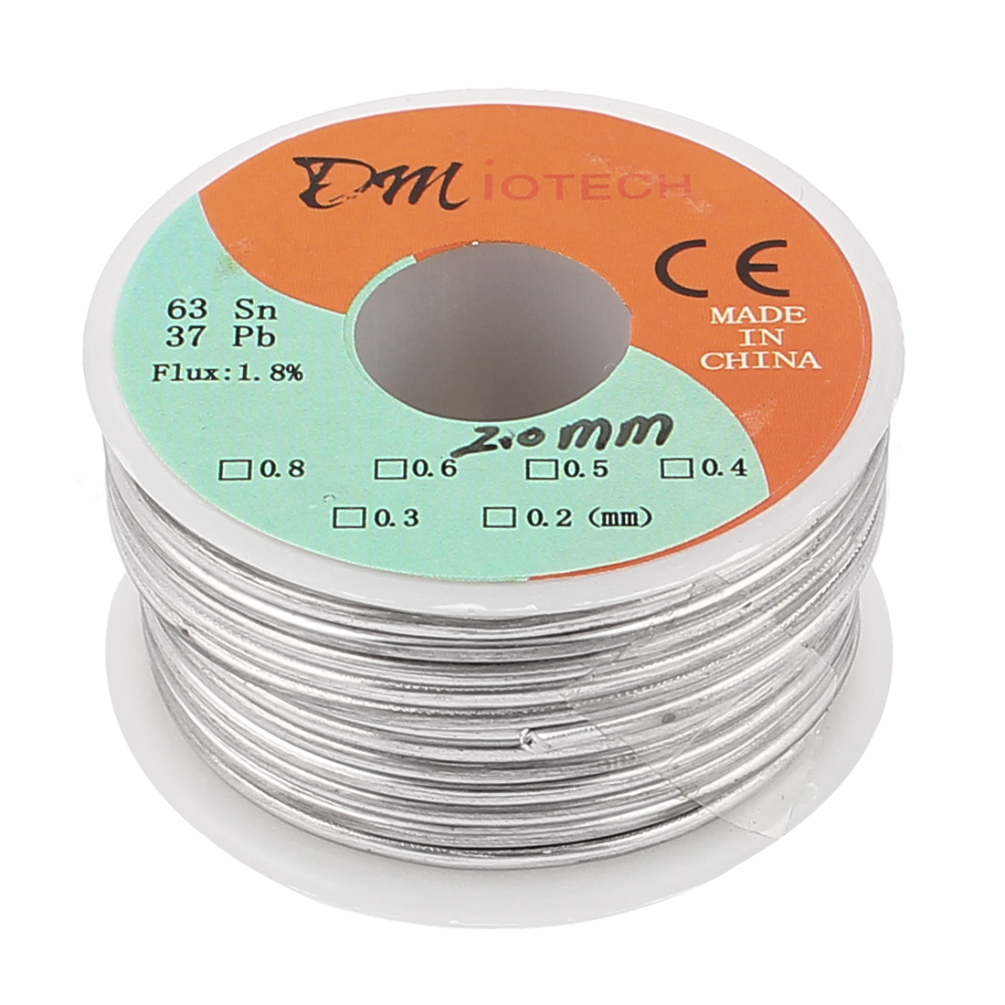 2mm 150G 63/37 Rosin Core Flux 1.8% Tin Lead Roll Soldering Solder Wire