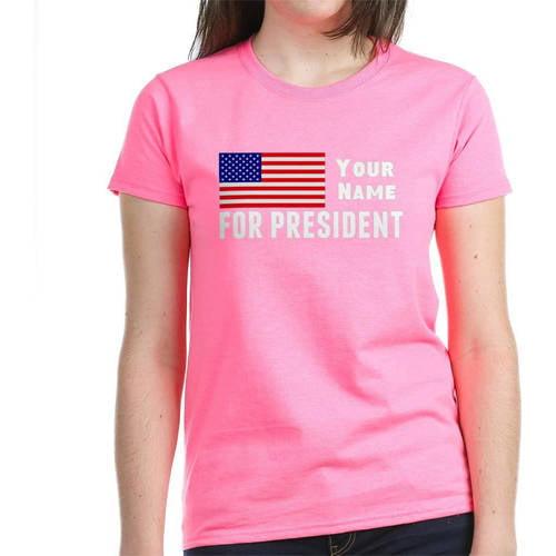 Cafepress Personalized Customize President Women's Dark T-Shirt