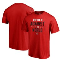 New Jersey Devils Fanatics Branded Youth Against The World Wordmark T-Shirt - Red
