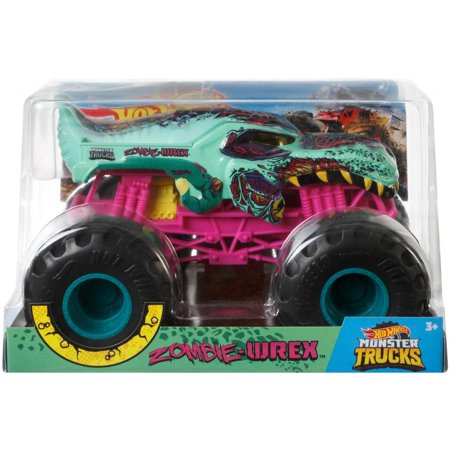 Hot Wheels Monster Trucks 1:24 Scale Zombie Wrex Vehicle