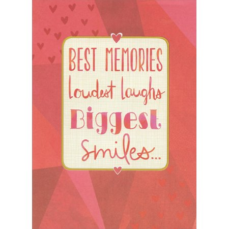 Designer Greetings Red Letters in Thin Gold Foil Frame: Best Friend Valentine's Day