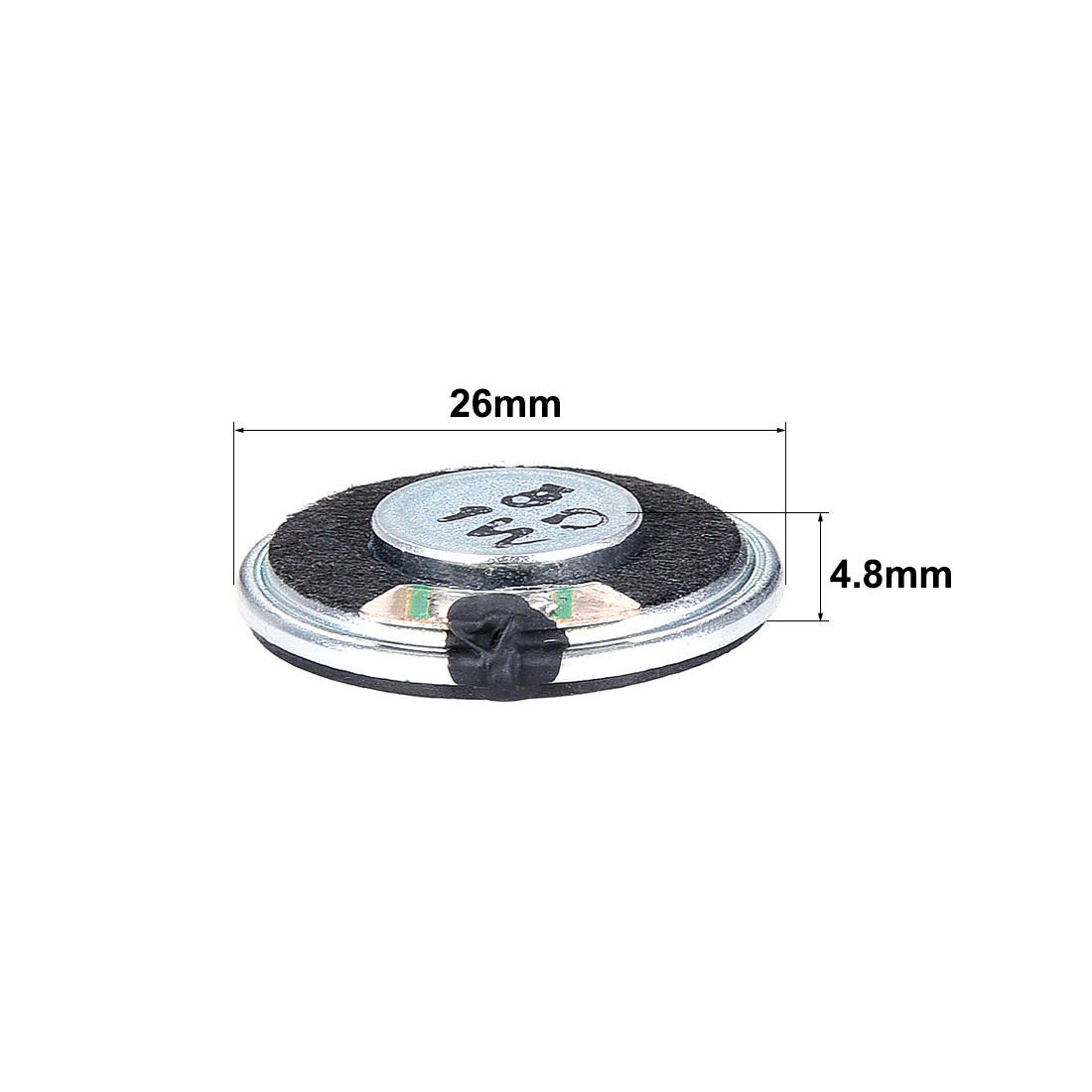 1W 8 Ohm Speaker 26mm Round Shape Loudspeaker for DIY Audio Speakers 4pcs - image 1 de 3
