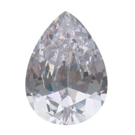 UNHEATED 30.09ct White Zirconia CZ Pear Cut Loose Gemstone Jewelry (Loose Cz Stones)