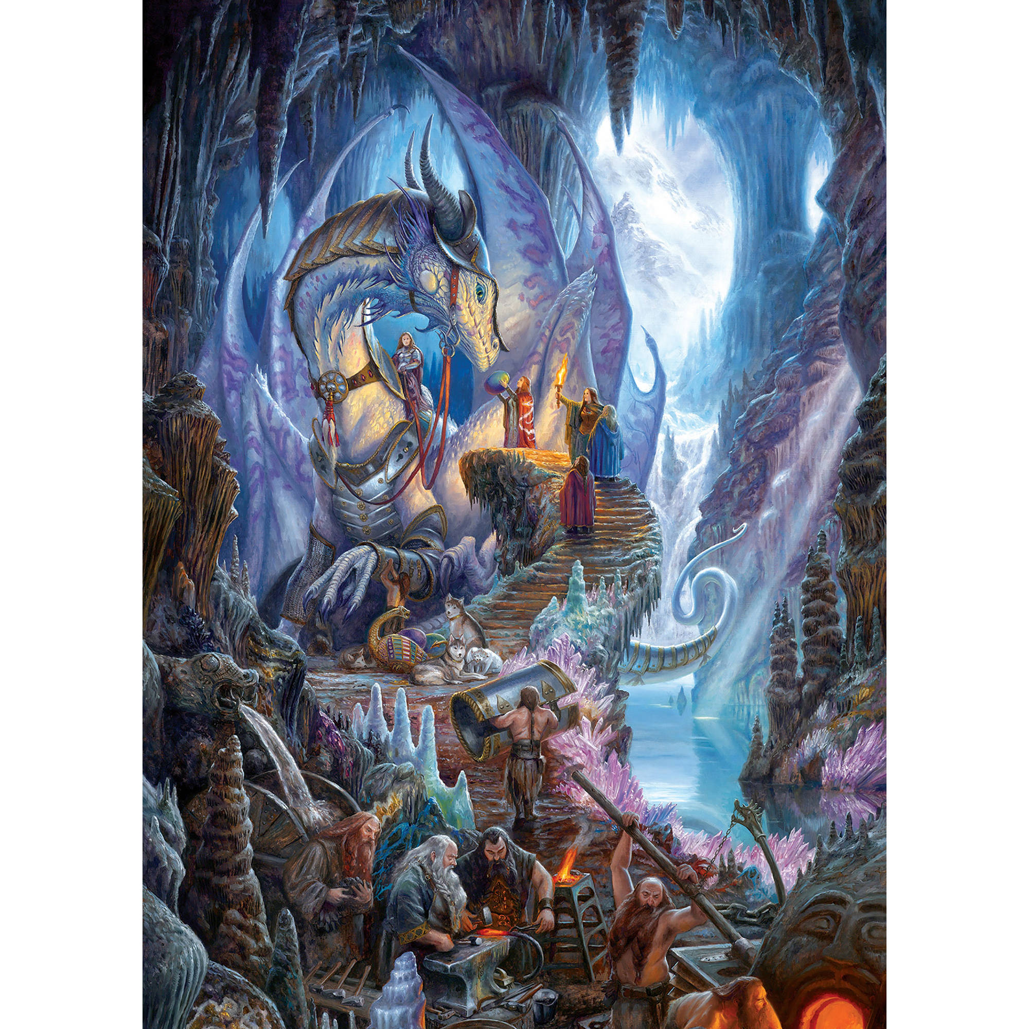 Cobble Hill: Dragon Forge 1000-Piece Jigsaw Puzzle by Cobble Hill