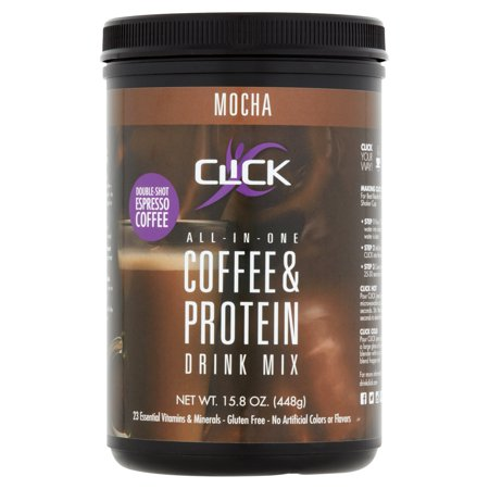 Click All-In-One Coffee & Protein Powder, Mocha, 15g Protein, 1 Lb (Soy Protein Bodybuilding)