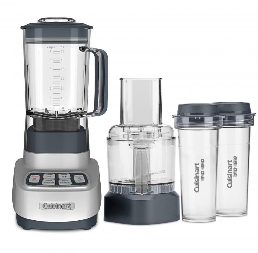 Cuisinart Velocity Ultra Trio Blender/Food Processor with Travel Cups, Silver (BFP-650)