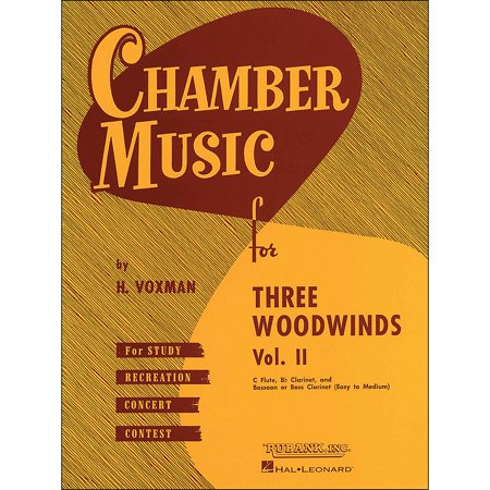 Hal Leonard Chamber Music for Three Woodwinds Vol. 2 Easy To Medium Flute/Clarinet/Bassoon/Or Bass Clarinet](Easy Halloween Music For Clarinet)