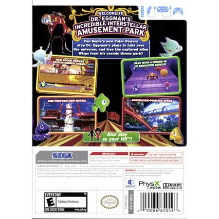 Sonic Colors, SEGA, Nintendo Wii, 00010086650426