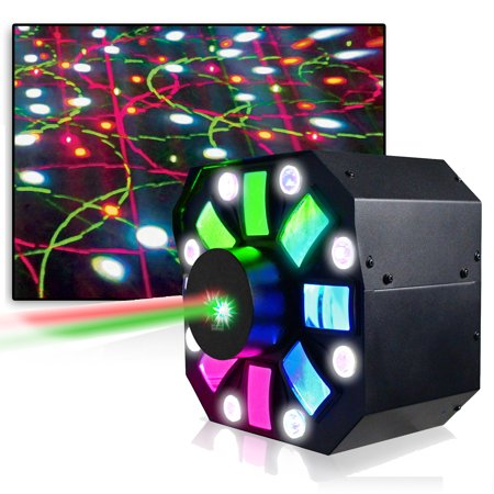 Professional DJ Multi Pattern Laser & LED Stage Effect Light with