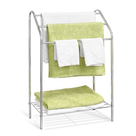 Furinno Wayar 3-Tier Towel Stand, Chrome, WS17015 Bathroom Accessories Towel Stand