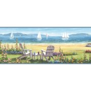 Chesapeake Barnstable Blue Seaside Portrait Border