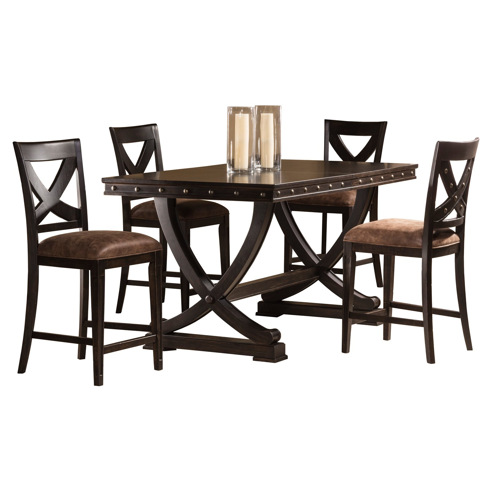 Hillsdale Santa Fe 5 Piece Counter Height Dining Set