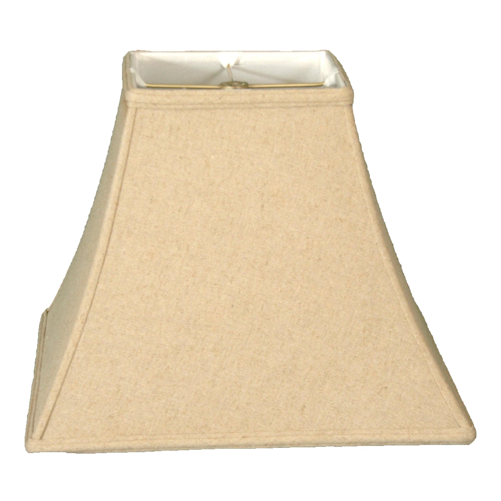 Picture of: Royal Designs 12 Square Bell Lamp Shade Linen Cream Walmart Com Walmart Com