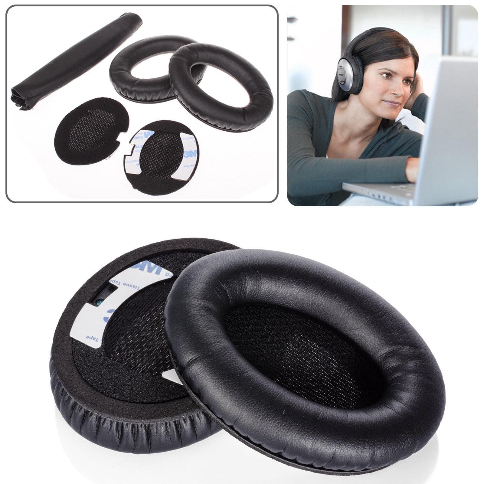 TSV Boses Quiet Comfort QC2, QC15 Headphone Replacement Ear Pad + Headband Cover   Ear Cushion   Ear Cups   Ear Cover  ... by TSV