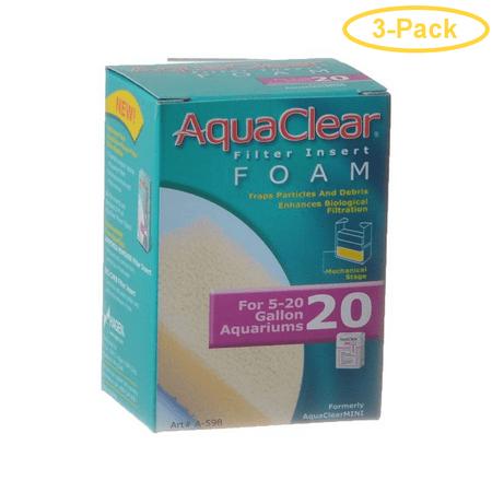 Aquaclear Filter Insert Foam For Aquaclear 20 Power Filter - Pack of 3