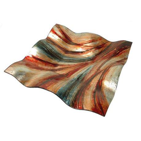 dlusso designs 390 3645 janice square decorative plate. Black Bedroom Furniture Sets. Home Design Ideas