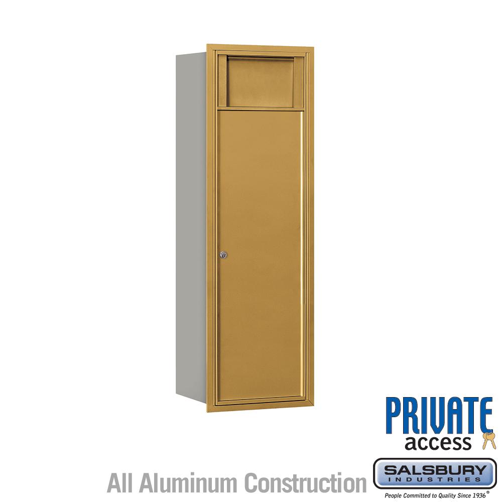 4C Horizontal Receptacle Bin - 12 Door High Unit - Single Column - 1 Receptacle Bin - Gold - Front Access