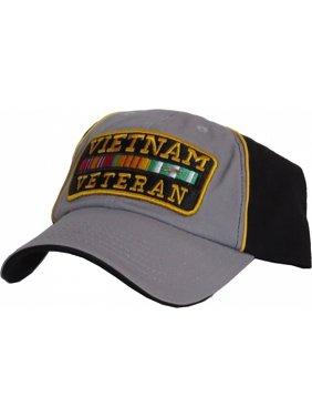 d3b729832d1e3 Product Image US Honor Vietnam Veteran Warrior 2-Tone Relaxed Mens Hat   Grey Black -