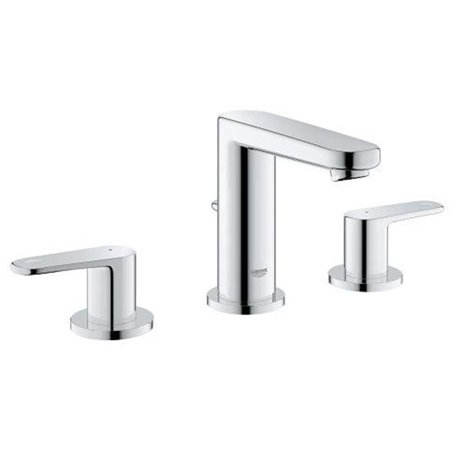 Grohe Chrome Bathroom Tub - Europlus S-Size 8 in. Widespread 2-Handle 3-Hole Bathroom Faucet - 1.2 GPM
