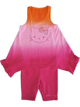 20eae2f5e97f5 Product Image Sanrio Little Girls Fuchsia Ombre Hello Kitty Hanky Hem 2 Pc  Pant Set 4-6X