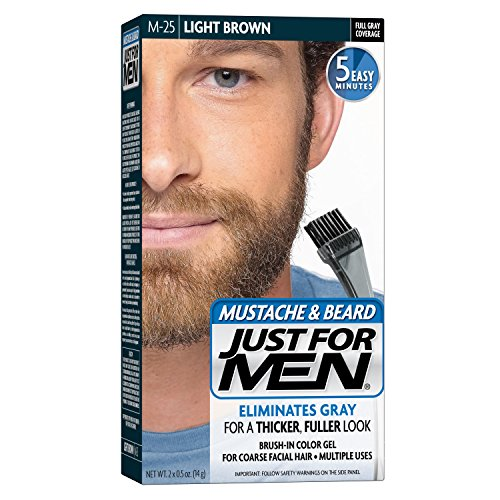 JUST FOR MEN Color Gel Mustache, Beard & Sideburns 80 Light Brown 1 Each