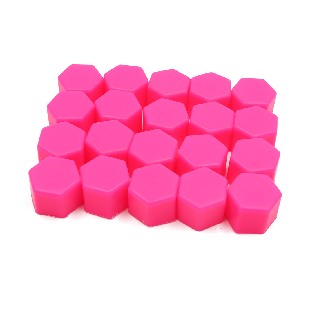 20pcs 21mm Car Wheel Tire Nut Screw Lug Dust Cover Caps Hub Protector Pink