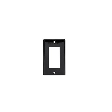Cooper 2151BK Black Single Gang Decorator Wall Plate
