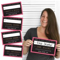 Girls Night Out - Party Mug Shots - Photo Booth Props Bachelorette Party Mug Shots - 10 Count