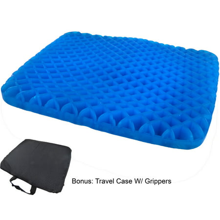 Egg Honeycomb Gel Seat Cushion Ergonomic Orthopedic Cooling Pressure Absorbing Flexible Back Support Office Chair Cushion With Non Slip