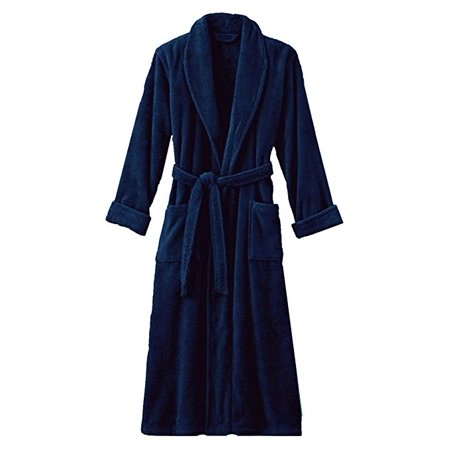 Hotel Luxury Reserve Navy Terry Velour Bathrobe For (Luxury For Women)