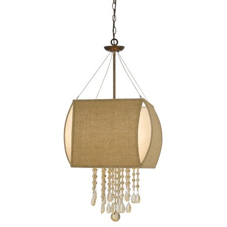 - Cal Lighting Ark 4 Light Crystal Chandelier