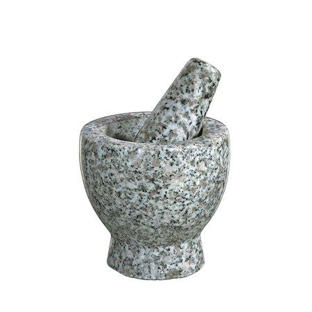 Eros Granite Mortar And Pestle  3 5 Inch  2 75 Inch Diameter  White  Ship From Usa Brand Cilio