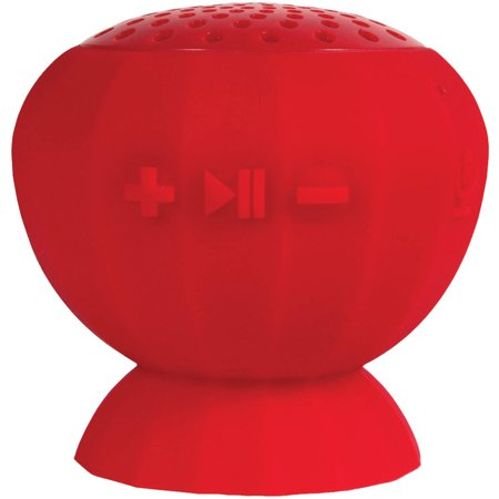 Lyrix 09257-PG Jive Water-Resistant Bluetooth Speaker, Red