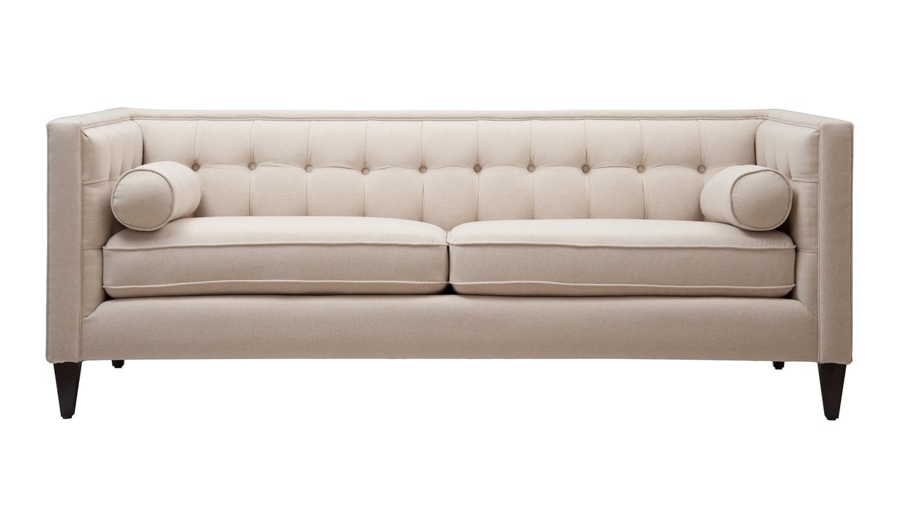Jack Tufted Tuxedo Sofa Double Cushion
