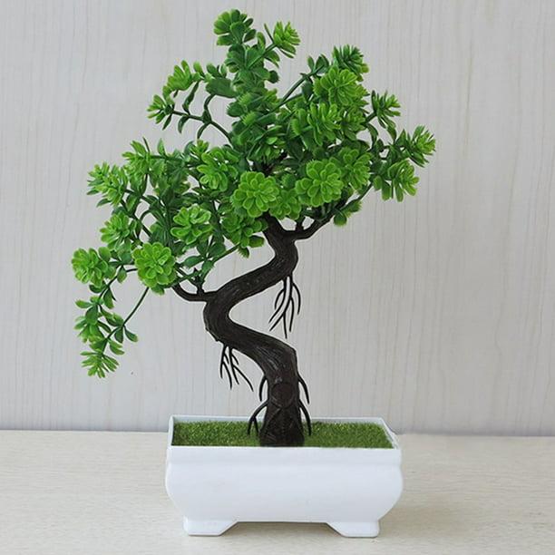 Akoada Bonsai Tree In Square Pot Artificial Plant Office Home Tabletop Decor Beautiful Walmart Com Walmart Com