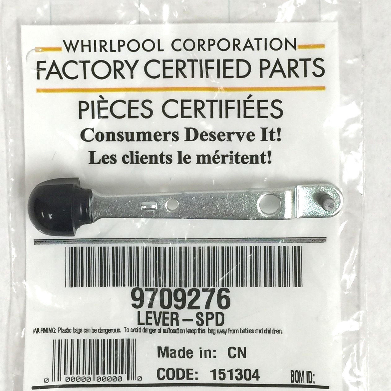 9709276 Genuine OEM KitchenAid Mixer Speed Control Lever by
