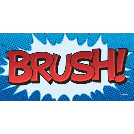 Gango Home Decor Contemporary Superhero Brush Superhero Floss Two 18x8in Art Prints In Distressed White Frames Walmart Com Walmart Com