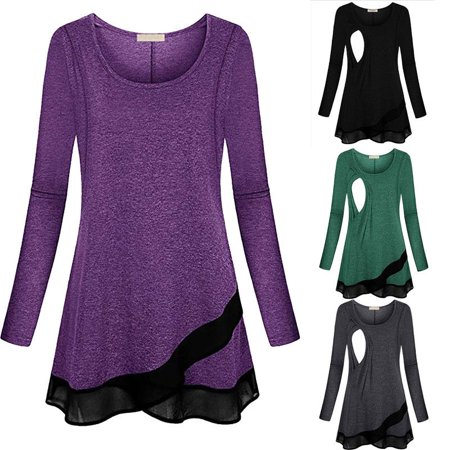 d192770c3ce26 Hirigin - Women Pregnant Maternity Clothes Nursing Tops Breastfeeding T-Shirt  Blouse USA - Walmart.com