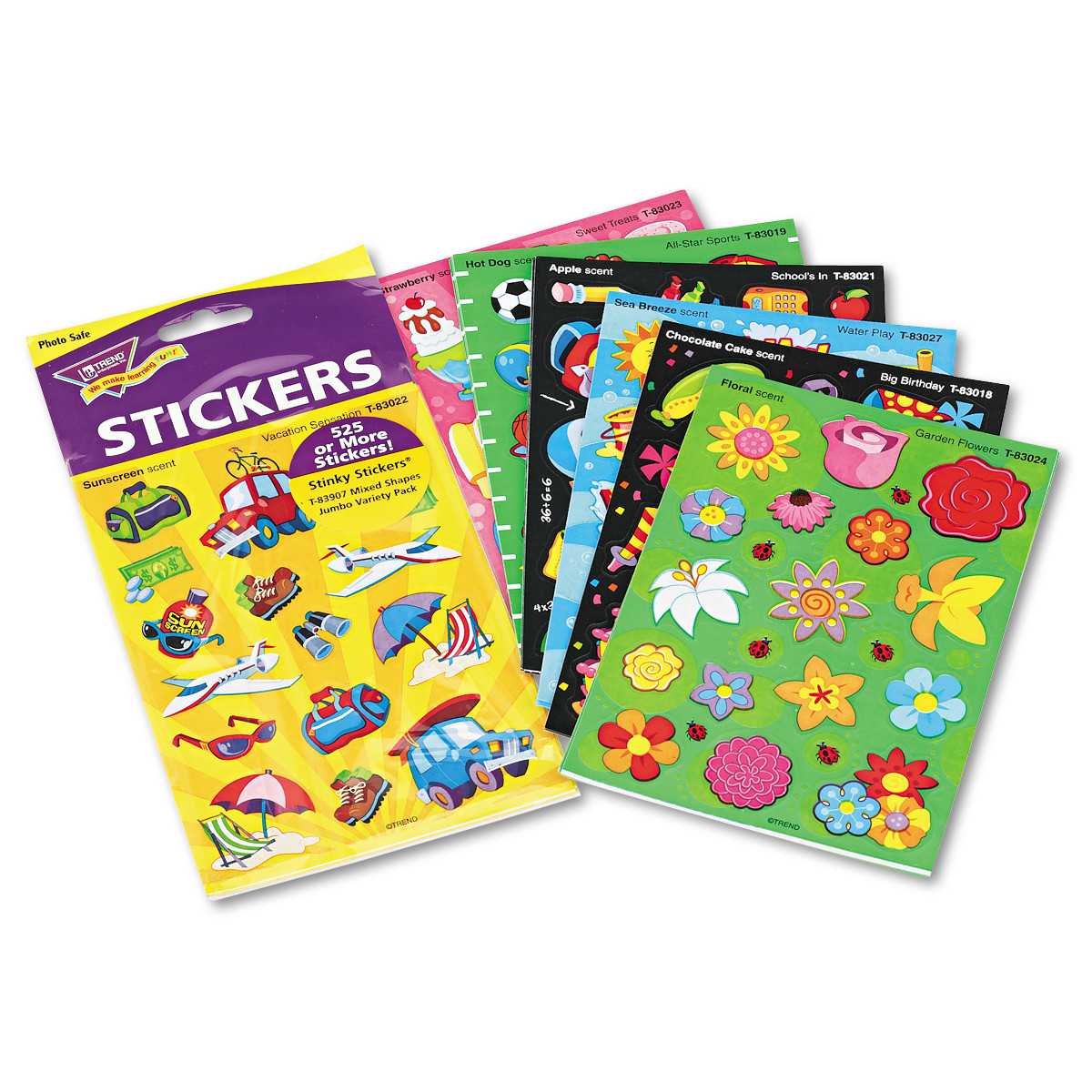 TREND Stinky Stickers Variety Pack, Good Times, 535/Pack -TEPT83907