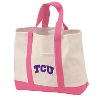 Texas Christian Tote Bag CANVAS Texas Christian Tote Bags for TRAVEL BEACH SHOPPING