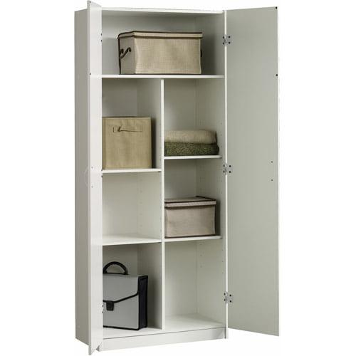 sauder beginnings collection storage cabinet, soft white - walmart