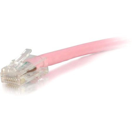 C2G 00625 9ft Cat5e Non-Booted Unshielded (UTP) Network Patch Cable - Pink - Category 5e for Network Device - RJ-45 Male - RJ-45 Male - 9ft -