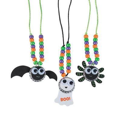 IN-13704064 Halloween Bottle Cap Necklace Craft Kit